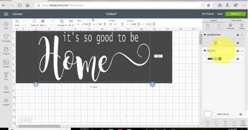 Centering your design on the stencil box in design space