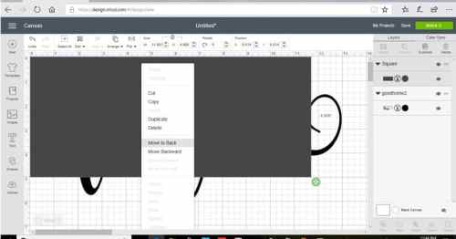 Stretch the ox as big as your project to make a stencil in design space