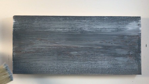 new wood that's been distressed with paint