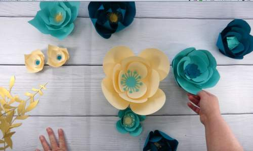 make a paper flower wall backdrop at home