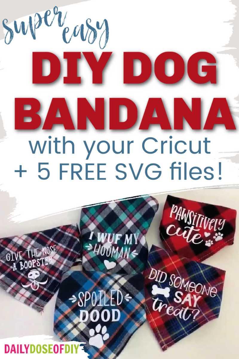 Pinterest graphic for dog bandanas