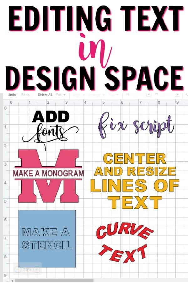How to edit text in Cricut design space. Learn how to add fonts, make a mmonogram, curve text and more!
