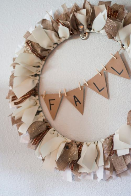 fall rag wreath