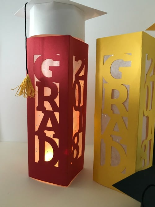 Graduation Cap and Lantern Centerpieces Diy Graduation Decor
