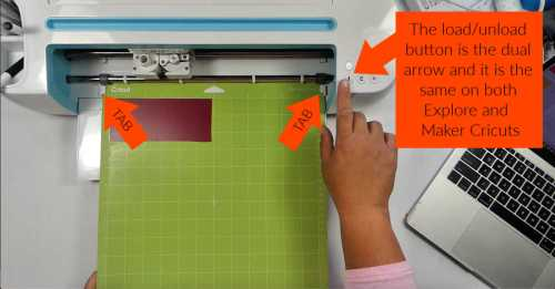 How to load the cut mat to cut vinyl on a cricut