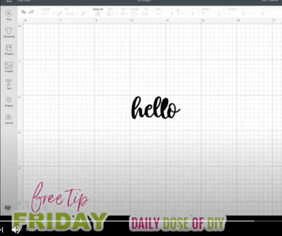 how to fix filled in letters in Cricut Design Space