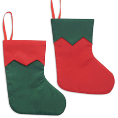 Blank Mini Stocking for Christmas Crafts