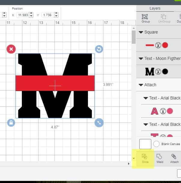 Making a monogram is design space