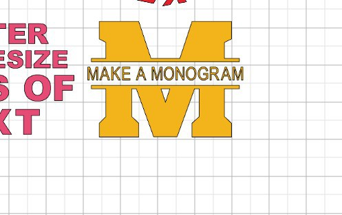 How to make a monogram with the text editor in cricut design space.