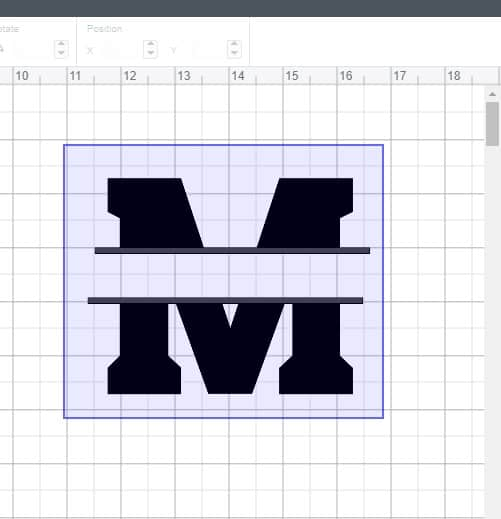 Centering lines for a monogram in cricut design space