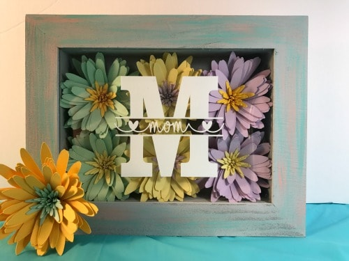 How to make a shadow box display for Mother's Day