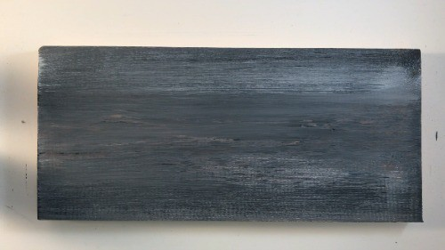 Distressing new wood in minutes with paint.