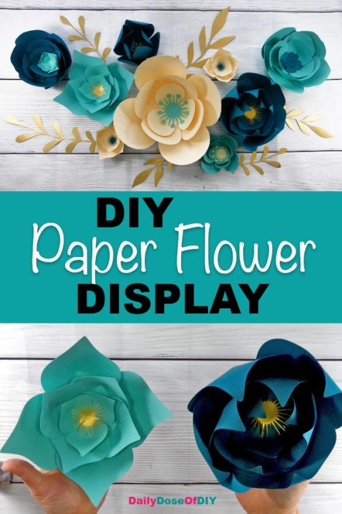 Make A Diy Paper Flower Wall Backdrop With Your Cricut Free Paper Flower Svg Included Daily Dose Of Diy
