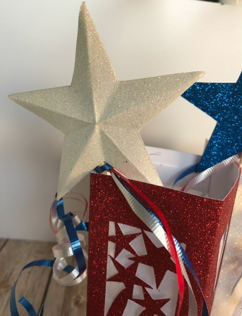 3d star wand for fourth of July decor