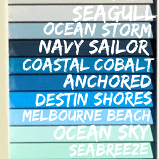 seapaint shades of blue for ombre sign