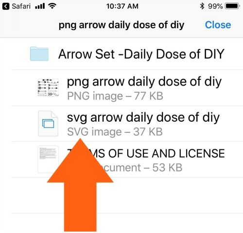 How to upload SVG files to Cricut Design Space on iPad or iPhone