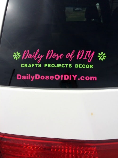 How to make a multi colored vinyl car decal with your cricut
