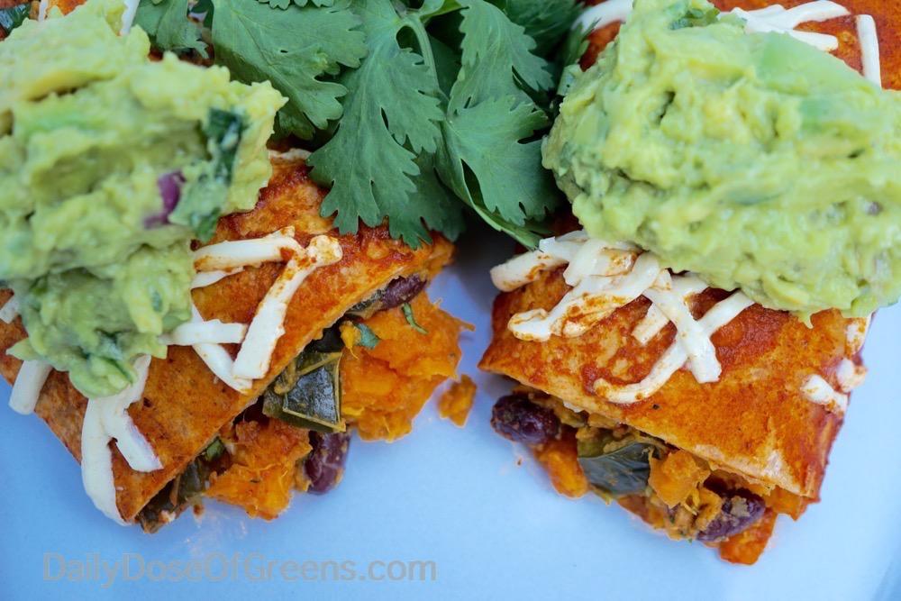 Sweet Potato Enchiladas With Roasted Poblano