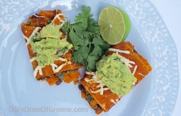 sweet potato enchiladas