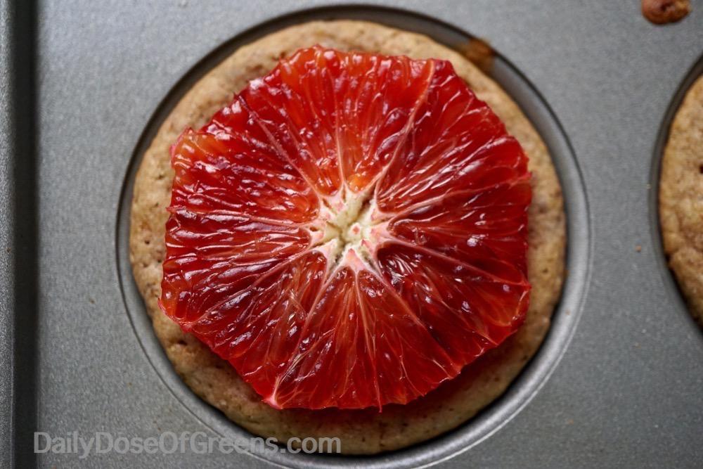 blood orange muffin