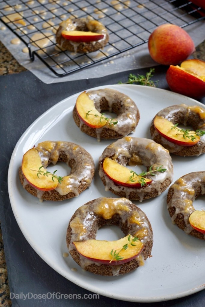 peach buckwheat donuts