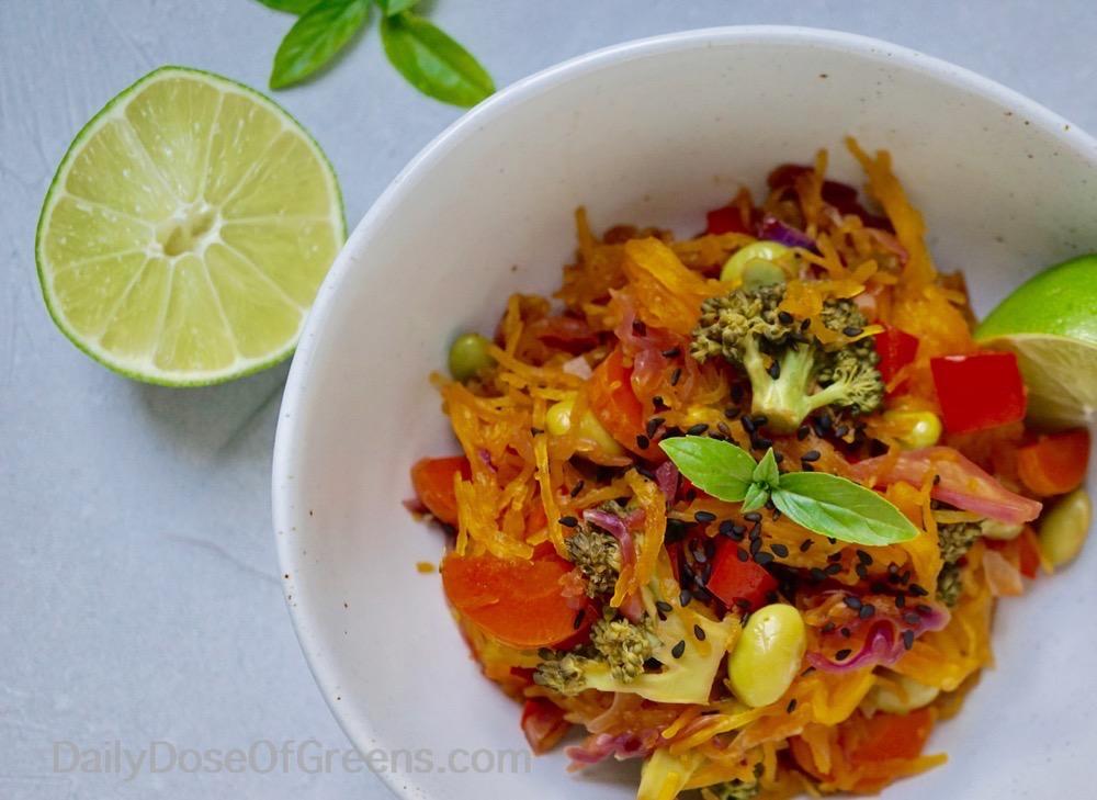 """Thai Spaghetti Squash Stir-""""fry"""""""