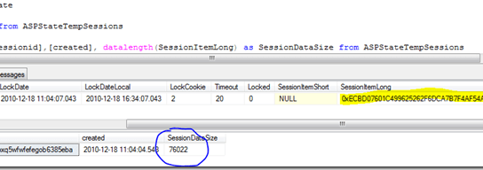 How to calculate Session data size for SQL Server session mode?