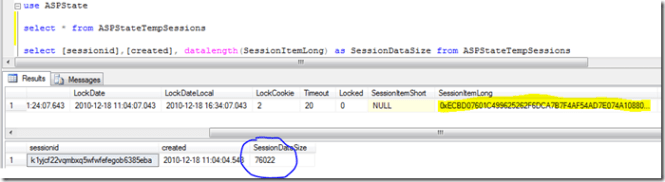 How to calculate Session data size for SQL Server session mode