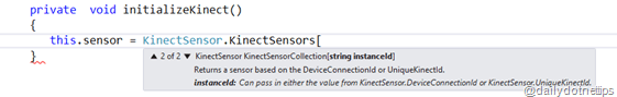 Kinect Sensor InstanceId
