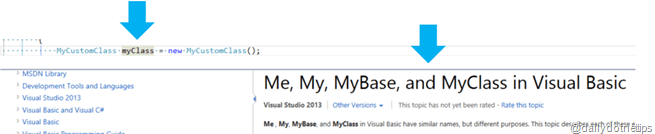 Visual Studio 2013 Tips and Tricks - Peek Help Custom Search