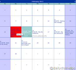 ASP.NET Calendar as Outlook Calendar