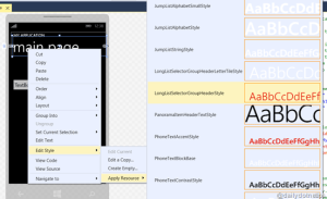 Applying default styles quickly to your Windows Phone 8 application in Visual Studio