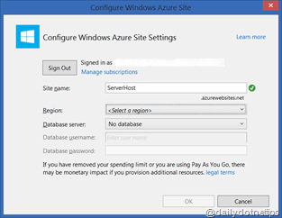 Configure Azure Web Site