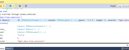Better Debugging for Office App – Using JavaScript Console in Visual Studio