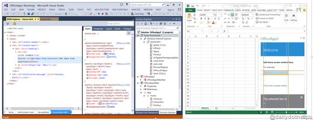 DOM Explorer For Ruuning for Task Pane App