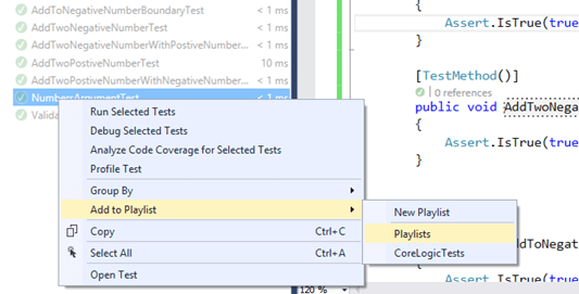 Adding Unit Test To Existing Playlist