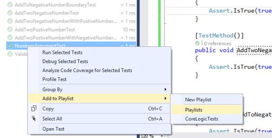 Adding Unit Test To Existing Playlist