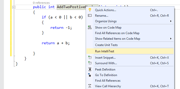 image9 Write Unit Test Automatically using IntelliTest in Visual Studio 2015