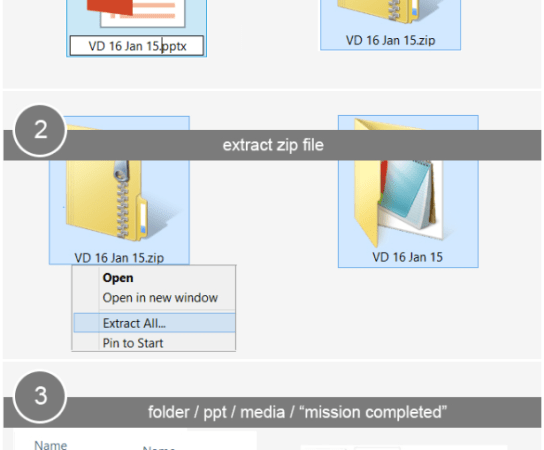 How to extract images from your PowerPoint slides ?