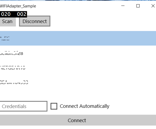 Getting the list of Wifi hotspots and Connecting with them in your Universal Windows Apps