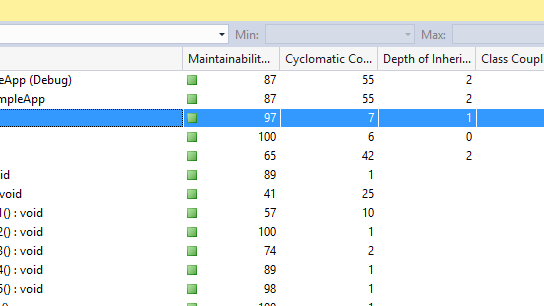 Understand the complexity and maintainability of your code using Code Metrics in Visual Studio – Maintainability Index