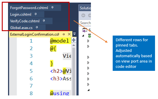 Did you know - Pinned tabs never hide in visual Studio