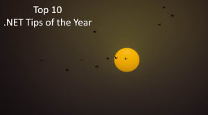 Top 10 Most Popular .NET Tips of the Year