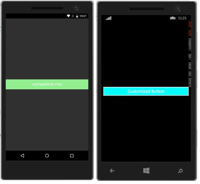 Customizing Controls for different platforms (Android, iOS, and