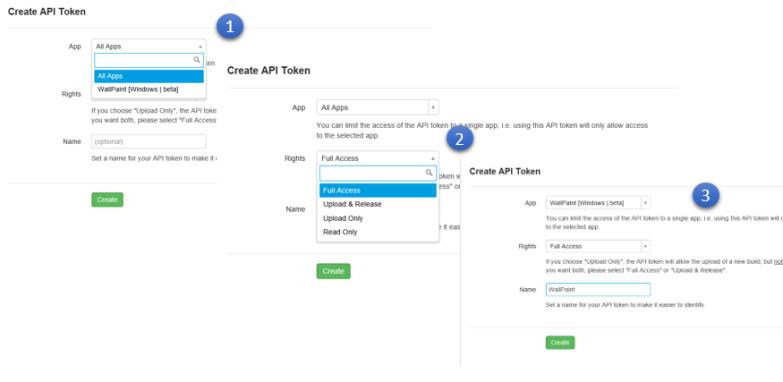 Create New API Token
