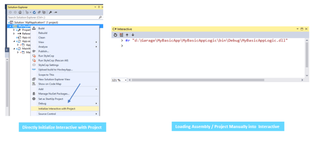 Directly Initialize Interactive with Project Vs. Manual Loading of Assembly / Projects