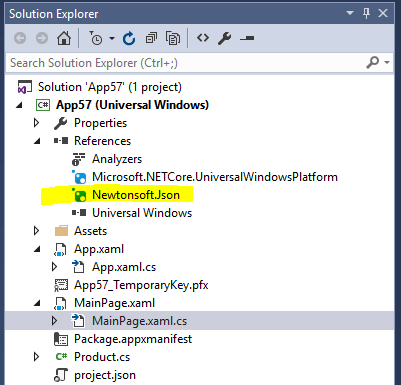 Quickly add a reference to a NuGet packages in Visual Studio 2015