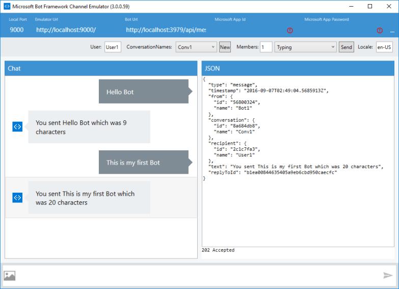 Bot Application - Running on Emulator