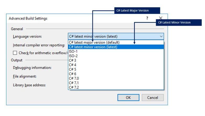C# language latest versions