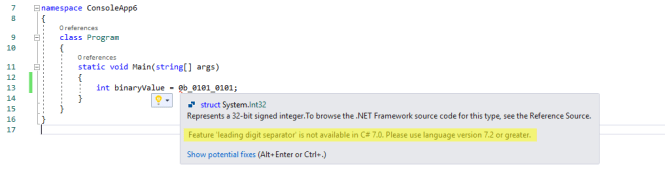 Upgrade Language Version Error